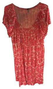 Daisy Fuentes short dress Pink Floral on Tradesy
