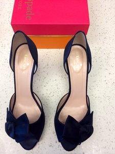 Kate Spade Navy Blue New York Sala with Medium Heel and Glitter Pumps Size US 8.5 Regular (M, B)