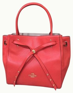 Coach Turnlock Refined Tote in Watermelon