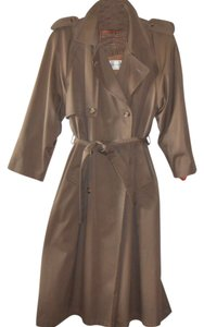 Evan Picone Trench Double Breasted Trench Coat