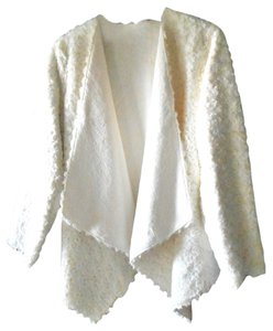 Adrienne Landau Evening Faux Fur White Jacket