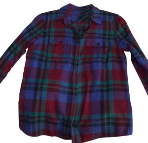 J.Crew Button Down Shirt Blue, red, purple, green