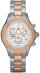 Michele Michele Women's MWW17A000017 'Jetway' Chronograph Diamond Two-Tone Stainless Steel Watch