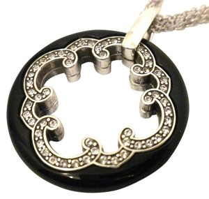 Brighton Brighton-Imperial-Black Crystal-Round-Pendant-3-Chain-NecklaceJN5672