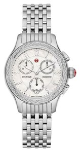 Michele Michele Women's MWW23A000001 'Jetway' Chronograph Diamond Stainless Steel Watch