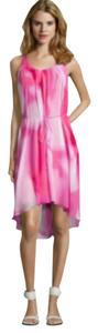 Tahari short dress White and Pink hues on Tradesy