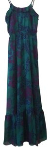 Blue, Multicolor, Turquoise Maxi Dress by Express Maxi