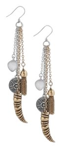 Lucky Brand Lucky Brand Two Tone Multi-Charm Linear Dangle Earrings NWT $39