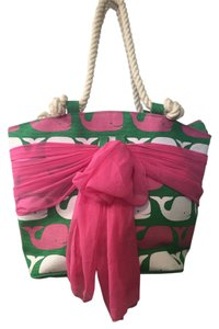 Mudpie Tote in Pink & green
