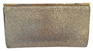Jimmy Choo Champage Evening Silver and Gold Clutch