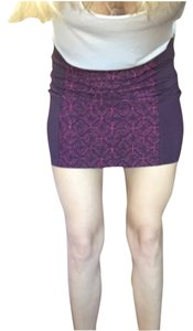 American Eagle Outfitters Mini Skirt Purple plum and pink