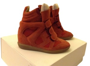 Isabel Marant Stylish Suede Cute Imported Red Wedges