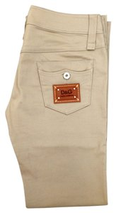Dolce&Gabbana Dolce & Gabbana D&g Logo Pants Khaki Boot Cut Jeans-Light Wash