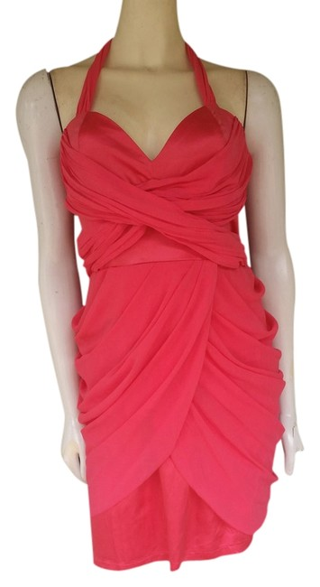 Lipsy Draped Exposed Zipper Cocktail Party Dress