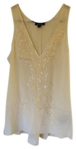 bebe Top Cream with Sequins