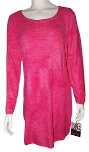 Patricia Field short dress Pink 98% Nylon 2% Spandex Longsleeve Pulls Over Head on Tradesy