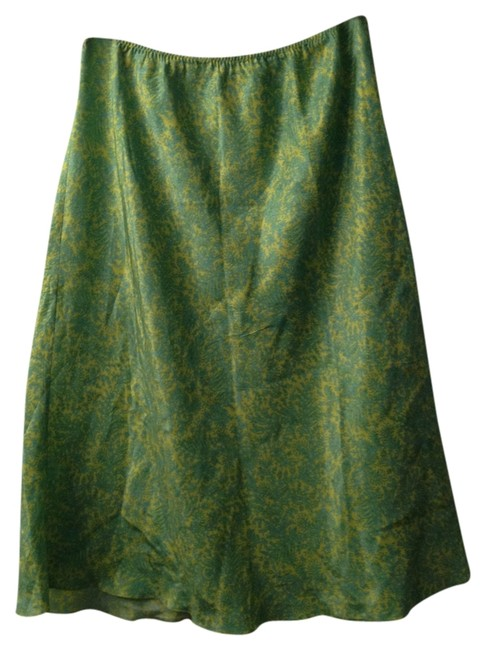 Gap Skirt Lime Green and Turquoise Paisley