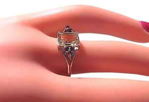 Sterling Silver 1.5 cts Garnet & Quartz Ring