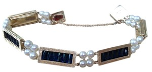 Lucien Piccard Lucien Piccard Saphire and Pearl Bracelet
