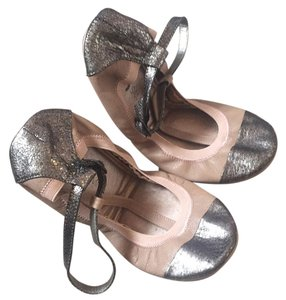 Yosi Samra Bronze and blush Flats