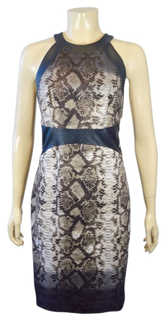 29703ae4f123 85%OFF Animal Print & Cotton & Leather Size 8 Dress 83% Off ...