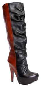 Donald J. Pliner Black, Brown Boots