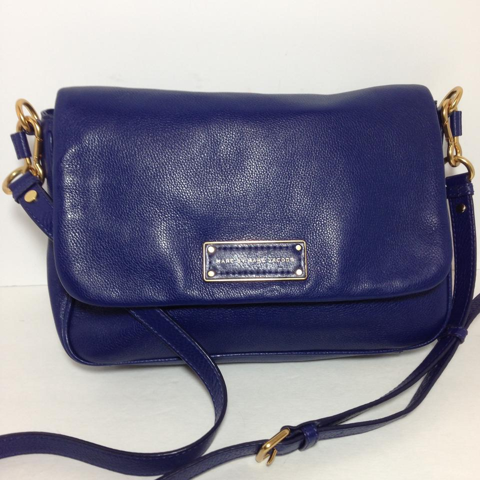 2a1dd0b77070 Marc by Marc Jacobs Too Hot To Handle Lea Purple Violet Leather Cross Body  Bag - Tradesy