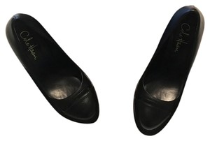 Cole Haan Leather Classic Black Platforms