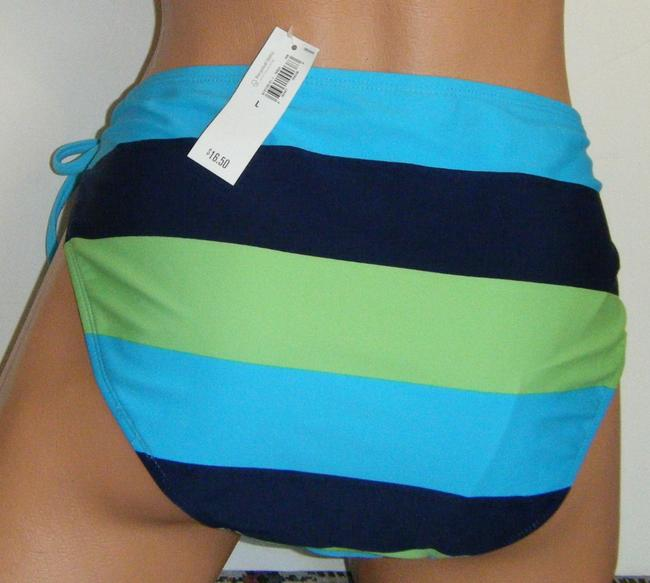 Old Navy SWIMSUIT BOTTOMS L NWT OLD NAVY SIDE TIE LADIES 1PC VIBRANT STRIPE LINED
