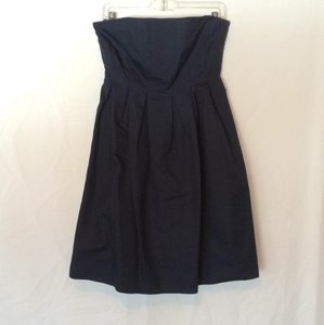 J.Crew Navy Cotton Casual Bridesmaid/Mob Dress Size 4 (S)