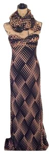 Carmen Marc Valvo Gown Polka Dot Sweetheart Dress