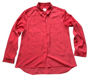 Chico's Button Down Shirt Red-Orange