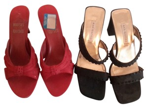 Vince Camutto Black & red Sandals