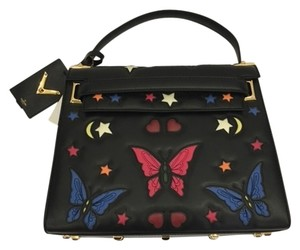 Valentino Butterfly Embroidered Shoulder Bag