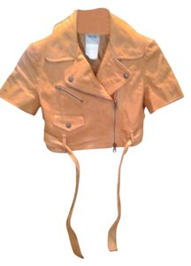 Moschino Leather Slighty Distressed Never Worn Make Offer Tan Jacket