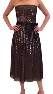 BCBGMAXAZRIA Sequin Tulle Strapless Dress
