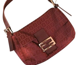 Fendi Satchel in Oxblood