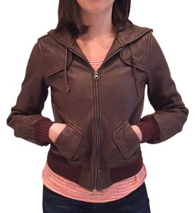 Aqua Leather Leather brown Leather Jacket