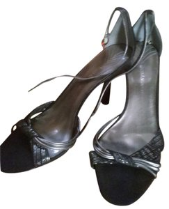 Enzo Angiolini black and silver Sandals