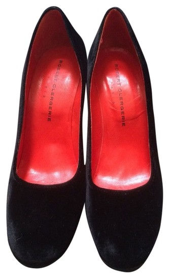 Robert Clergerie Black(Exterior) and Red(Interior) Pumps