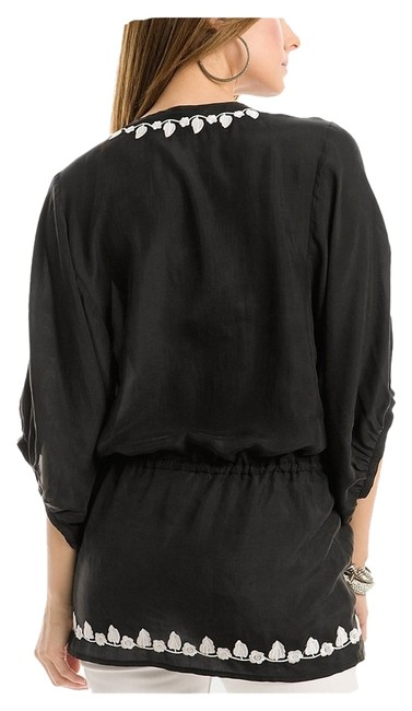 Preload https://item1.tradesy.com/images/guess-by-marciano-black-silk-morgana-embroidered-tunic-size-8-m-1254425-0-0.jpg?width=400&height=650