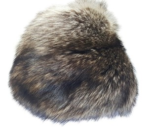 Coach Coach Exclusive: 100% Natural Raccoon Fur Hat, 100% Silk Lining, Cossack, Small Size Collectible