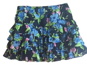 Abercrombie & Fitch Skirt Navy Floral