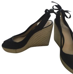 Coach Soft Leather Comfortable Black Wedges