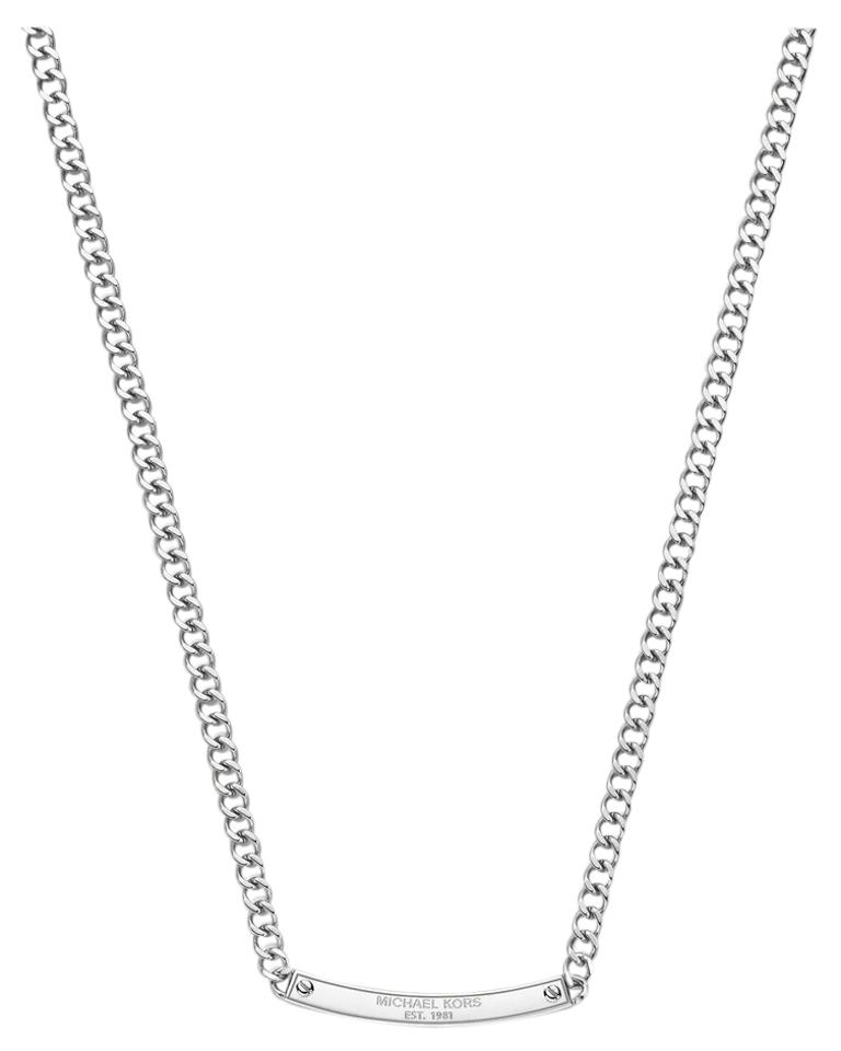 Michael kors silver clear necklace michael kors jewelry for Michael b jewelry death