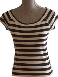 Express Tee Size Small Summer Size Small Tees T Shirt Black and White Stripe