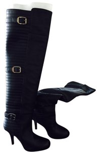 BCBGeneration black with silver buckles Boots