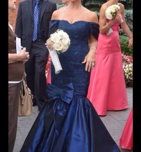 New Navy Tina Di Martina Couture Collection Dress