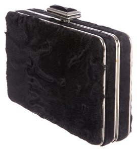 Judith Leiber Fur Black Clutch