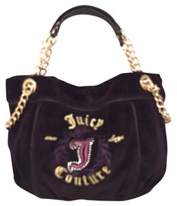 Juicy Couture Velvet Satchel Handbag Tote Shoulder Bag